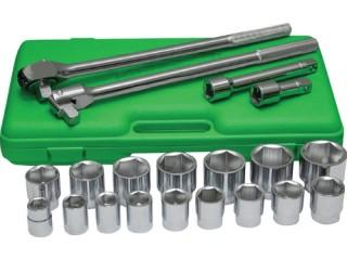 "21 pc 3/4"" Jumbo Socket Set Metric"