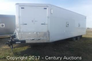 2016 New - Royal XR 30' T/A 4-space Sled Trailer
