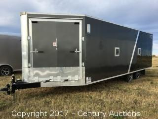 2016 New - Royal XR - Custom 30' T/A 4-Space Sled Trailer