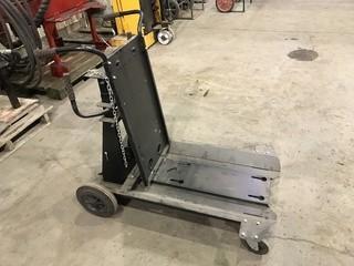 4-Wheel Welding Cart w/ Bottle Rack.