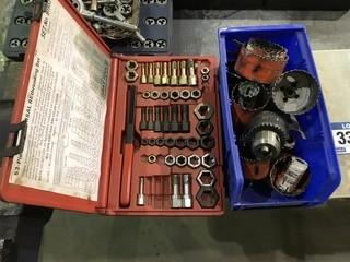 Lot of Rethreading Set, Hole Saws, Gas Fittings, Hose Repair Kits etc.
