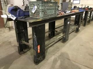 """30"""" X 120"""" Steel Shop Built Table **VISE NOT INCLUDED**"""