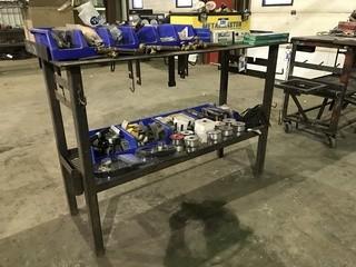 """24"""" X 60"""" Steel Shop Built Bench"""