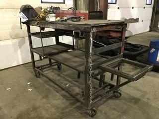 """30"""" X 60"""" Steel Shop Built Table **VISE NOT INCLUDED**"""