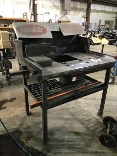 """31"""" X 50"""" Steel Shop Built Table"""