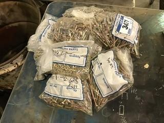 """Lot of Asst. 1/4"""" Bolts, Nuts, Washers, etc."""