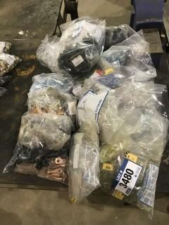 Lot of Asst. Electrical Connectors, Shrink Rings, Electrical Hardware, etc.