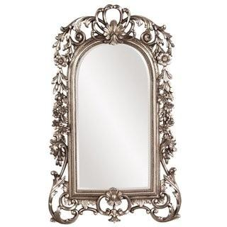 Astoria Grand Arch/Crowned top Antique Silver Wall Mirror (ATGD2445)