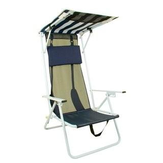 Bravo Sports Shade Folding Camping Chair - Blue / White (BSP1365)