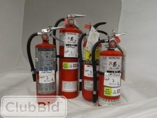 Qty of (4) Protech Fire & Safety A, B & C Fire Extinguishers