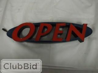 Qty of (2) Blue & Red Neon Open Signs