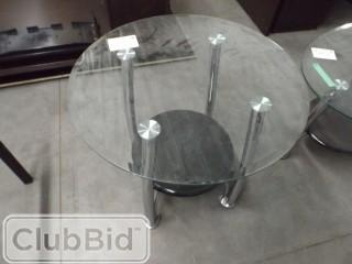 Glass Top Coffee Table & (2) Side Tables