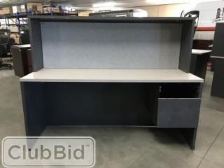 "5'6""x2' Desk w/Stack On"