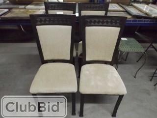 Qty of (4) Beige Dining Room Chairs