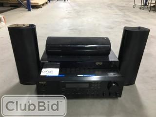 Onkyo Receiver w/ Onkyo Speakers, and Samsung DVD Player