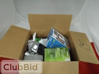 Quantity of Assorted Household Electronics: Phones, Remote Controls, DVD Player, Speakers