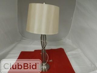 Silver Lamp w/ Grey Shade