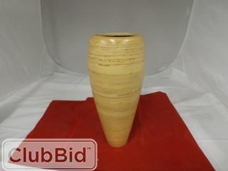 Wooden Vase in Light Brown