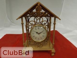 Metal Rust Coloured Mantle Clock