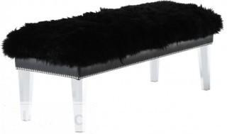 Willa Arlo Interiors Ottavia Acrylic Bench  - Black(WLAO1833_22858496)