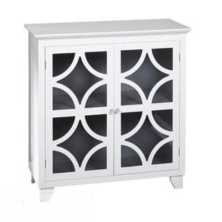 Latitude Run Centeno 2 Door Cabinet  - White / Grey(LTDR4028_22555483)