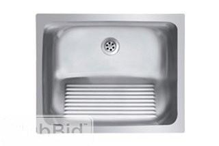 Ukinox Single Basin Stainless Steel Laundry Sink with washboard (UKNX1088)