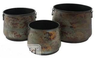 Aspire 3-Piece Metal Pot Planter Set (EHQ3577)