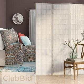 World Menagerie 70.5 x 51 Chantae Shoji 3 Panel Room Divider - White (WLDM7264_22088399)