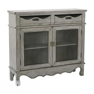 Mansfield Storage Console by Bassett - Antique Ash grey (TH3141_10374959)