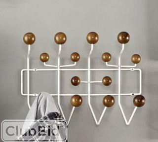 Modway Gumball Wall Mounted Coat Rack - Walnut  (FOW3797_19764795)